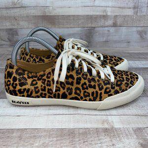 SeaVees Monterey Leopard Fashion Sneaker US 8.5